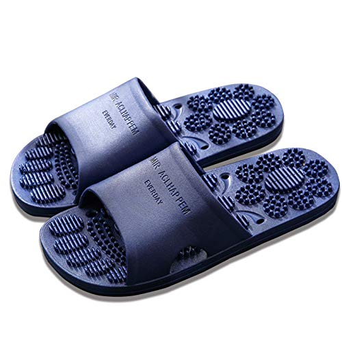 DFFH Masaje Slippersr Acupresión Sandalias Zapatos De Ducha,Alivio Fasciitis Plantar Talón Artritis Neuropatía Dolor,Azul, M