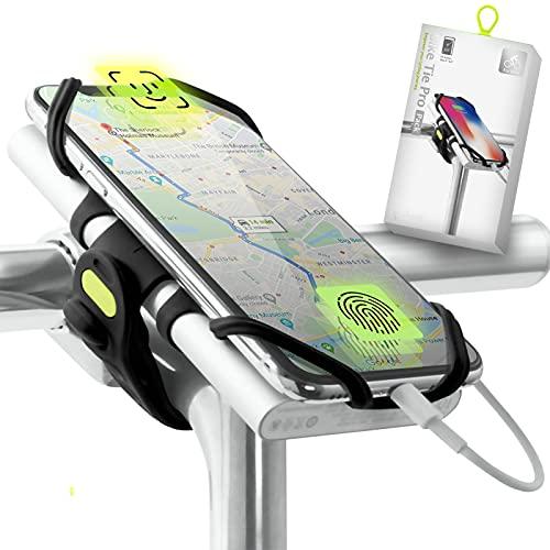 """Bone Collection Montura Batería Externa (no Incluido) y Móvil 2-en-1, Soporte Teléfono Reconocimiento Facial Bicicleta para Montaje en Potencia Smartphones Pantalla 4"""" - 6.5"""", Peso Ultra Ligero"""