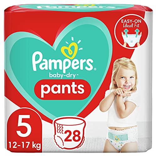Pampers Baby-Dry Pants 5, 28Höschenwindeln, Einfaches An- und Ausziehen, Zuverlässige Pampers Trockenheit, 12-17kg