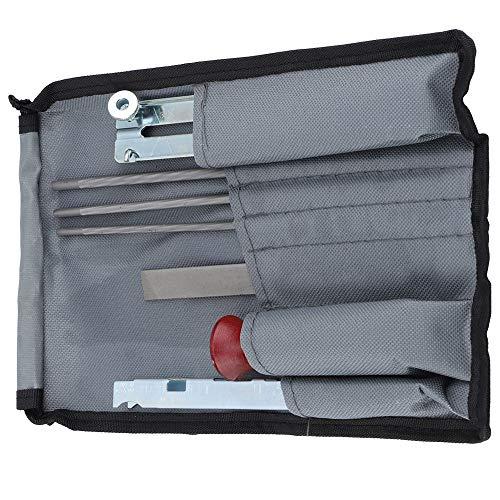 ALLOMN 8 unids/set motosierra archivos profundidad calibre cadena sierra afilar herramienta kit mango madera profundidad calibre archivo guía herramienta bolsa