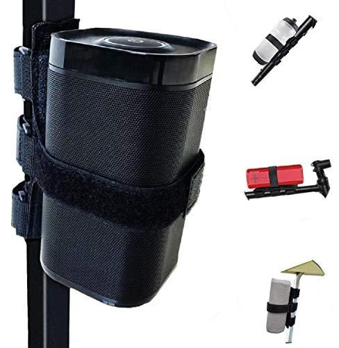 Portable Bluetooth Wireless Speaker Mount for Golf Cart Accessories Railing Bike - Adjustable Strap Fits Most Portable Sound Bar, Golf Cart Accessories Applicable to Railing/Frame/Bike Handlebar