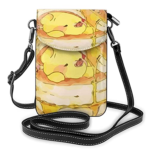XCNGG Monedero pequeño para teléfono celular Women's Small Crossbody Bag with Shoulder Strap,Winnie The Pooh eats a lot of Honey Small Cell Phone Purse Wallet with Credit Card Slots