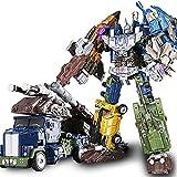 LUSTAR Transformers Guerrero Mech 5 in 1 Juguete Set, Deluxe Robot Figura de acción Material de aleación Warrior Manual deformación Serie cumpleaños Regalo Niños