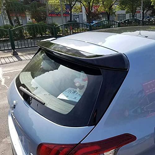 Siyse Alas de alerón Trasero de Coche de plástico ABS para Peugeot 308 2014-2015, decoración de Labios de Carreras de ala Trasera