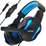 ENHANCE PC Gaming Headset for PS4 & Computer with 7.1 Surround Sound - Voltaic PRO Esports Computer Headphones with Microphone, LED Light, in-Line Controls - Great for PUBG, Fortnite & More