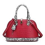 Damenhandtasche Mode Umhängetasche Umhängetasche Einkaufstasche mit großer Kapazität (Rot,30cm*15cm*22cm)