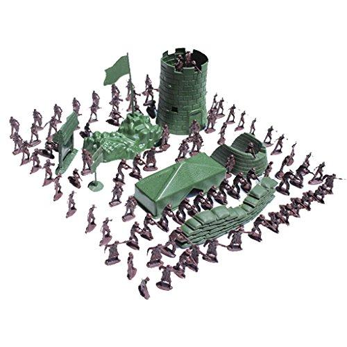 MagiDeal 100pcs / Lot Armee Kampf Spiel Spielzeug Soldat Set 3cm
