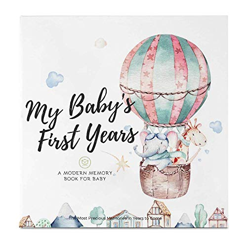 Baby First 5 Years Memory Book Journal – 90 Pages Hardcover First Year Keepsake Milestone Newborn Journal For Boys…