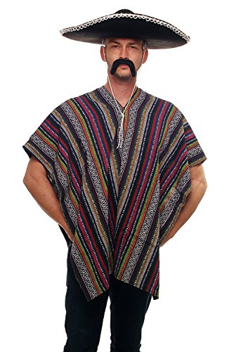 DRESS ME UP - Super poncho mexicain Mexique western spaghetti cowboy. Taille unique K49