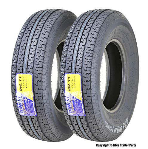 2 New WINDA Trailer Tires ST235/80R16 Radial 10PR Load Range E w/Side Scuff Guard