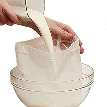 "Premium Fine Mesh Food Grade Nut Milk Bag for Almond Milk/Soy Milk - Fine Mesh Nylon Cheesecloth & Cold Brew Coffee Filter, 9"" x 12"" (1)"