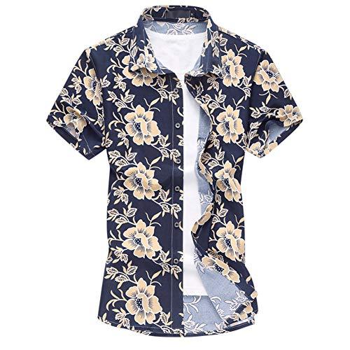 Allthemen Camicie Floreali da Uomo Camicie da Spiaggia a Maniche Corte hawaiane