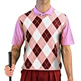 V-Neck Argyle Golf Sweater Vests