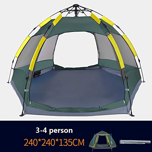 Hengta Tent Hexagon, 3 to 8 man Festival tent, large Dome Tent with full standing head height, 100% waterproof Family Camping Tent with sewn in groundsheet