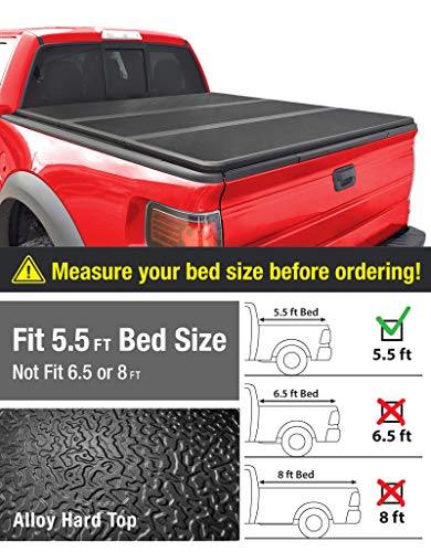 MaxMate Alloy Hardtop Tri-Fold Truck Bed Tonneau...
