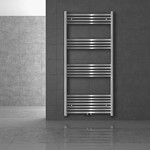 ECD Germany Radiador de baño 500 x 1100 mm - Color cromado...
