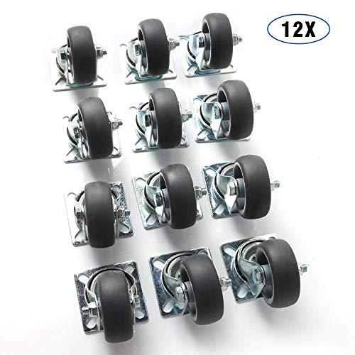 2 Transport-Rollen 125mm Kugellager Stabil Voll-gummi schwarz au/ßen u innen 125 mm Industrierolle Plattenrolle