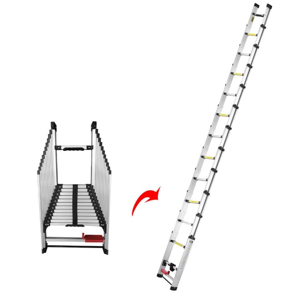 ZAQI Escalera Extensible Escalera telescópica Escalera telescópica de Aluminio - Escaleras de extensión Plegables Multiuso para Uso Diario doméstico o de Emergencia en el hogar, 150 kg, 2.24-4.34 m: Amazon.es: Hogar