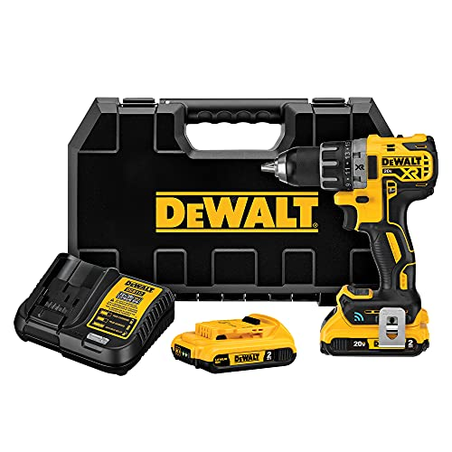 DEWALT 20V MAX XR Brushless Drill/Driver Kit with Tool Connect Bluetooth, Cordless (DCD792D2)