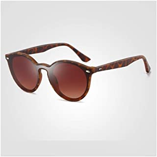 SGJFZD Men's Ultra-Light TR Fashionable Classic Sunglasses Trend Big Frame Full Frame Lens Colorful Sunglasses (Color : Brown)