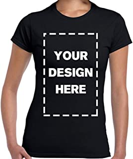 Woman Custom Add Your Own Design Photo Text Name Here Cotton T Shirts