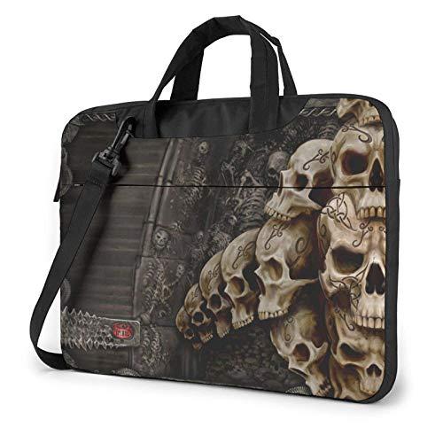 Skulls Laptop Bag Messenger Bag Maletín Satchel Shoulder Crossbody Sling Bolsa de Trabajo