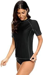 belamo Women's Short Sleeve Rash Guard Swim Tee UPF 50+ Swimwear Sun Protection Shirt