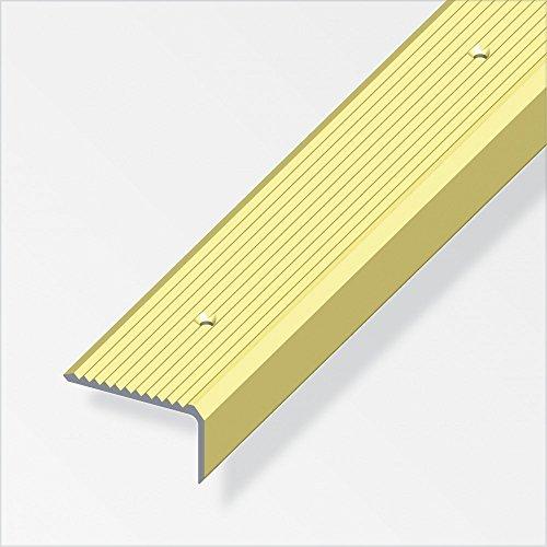 Treppenschienen breit, gerillt, gelocht 41/23mm messing eloxiert