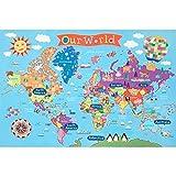 Round World Products Kid's Map, World, 24' x 36'