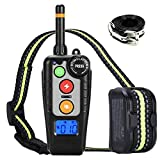 Dog Training Collar,Rechargeable Shock Collar and E-Collars up to 2000FT Remote,3 Color 3 Training Modes Beep/Vibration/Shock,Rotary Dial adjust Intensity 100% Waterproof Training Collar for all Dogs.