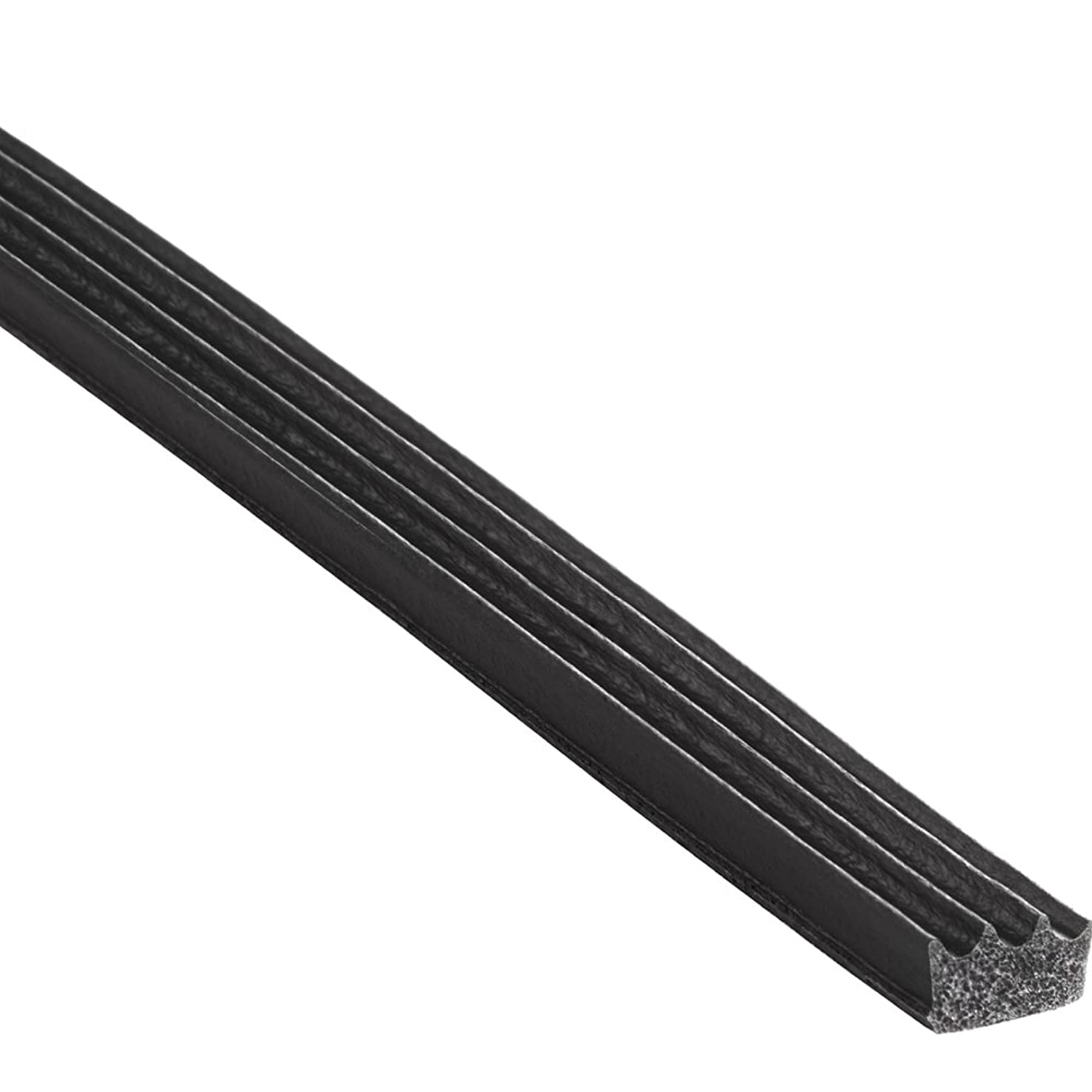 """Trim-Lok Ribbed Rectangle Rubber Seal – EPDM Foam Rubber Seal with High Tack (HT) Adhesive – Door & Window Weather Seal for Garage Doors, Automobiles, Boats – .187"""" Height, .375"""" Width, 100' Length"""
