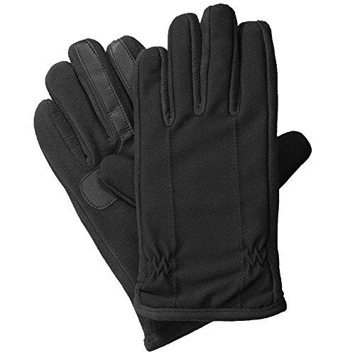 isotoner Tech Stretch Men's Gloves, Touchscreen, Water-Repellent, Black, XL
