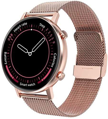 Reloj inteligente Lady DT96 Smartwatch 360 * 360 Multi-Deportes Fitness Tracker Monitor de Frecuencia Cardíaca Presión arterial Oxígeno-A