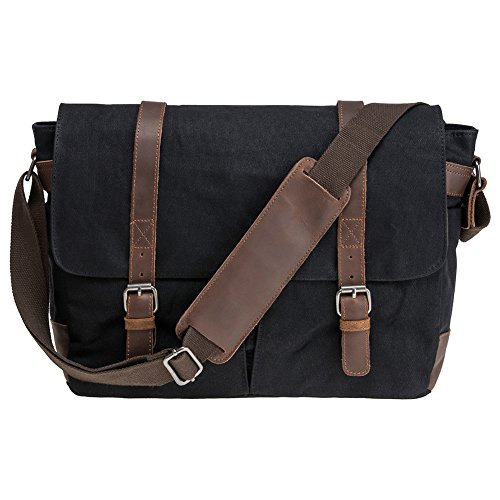 Waterproof Waxed Canvas 15' Macbook pro/ 14'' Laptop Messenger Bag Men Business Vintage shoulder bag/Briefcase