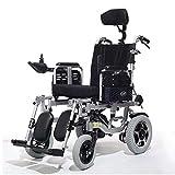 Leichte Voll Liegen Intelligente Elektro-Rollstuhl Folding Aluminiumlegierung Rollstühle mit Verstellbarer Armlehne und abnehmbare Fußablage -