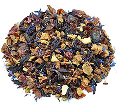 Prime Tea Fruity Assorted Tea Sampler, 6 Loose Leaf Herbal Tisane Blend Fruit Flavored Tea Assortment, 1oz Each by Prime Tea