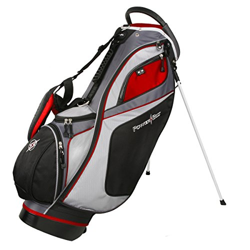 Powerbilt TPS Dunes 14-Way Black/Red Stand Golf Bag (Black/Red)
