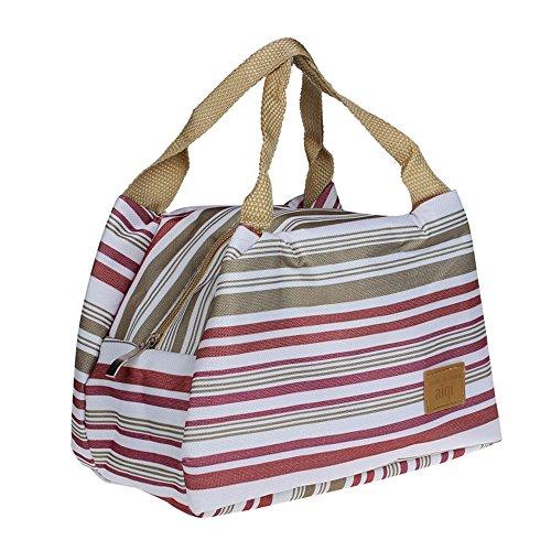 Sac à Déjeuner Sac Fraîcheur Portable Isotherme tirette Sacs de courses et cabas Lunch Bag, 8.3*5.5*6.3\