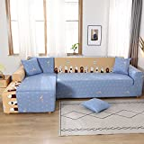 PPOS High Stretch Universal Sofabezug Abschnitt Werfen Sofa Ecke Set Möbel Sessel Abdeckung Dekoration Sofa Handtuch C7 3 Sitze 190-230cm-1pc