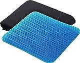 ダブルブルーゲルクッション 二重ハニカム構造 ゲル/ブルー、カバー/ブラック