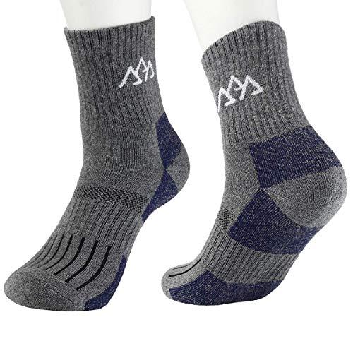 innotree 3 Pack Men's Full Cushioned Hiking Walking Socks, Quarter Crew Socks