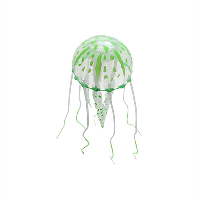 OTENGD 6PCS Aquarium Jellyfish Fluorescence Fantasy Jellyfish Lamp Magic Mood Lamp for Gift Artificial Mini for Home Decoration with 6 Color Effects