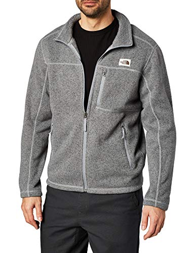 The North Face Men's Gordon Lyons Full Zip Fleece Jacket, TNF Medium Grey Heather, Medium