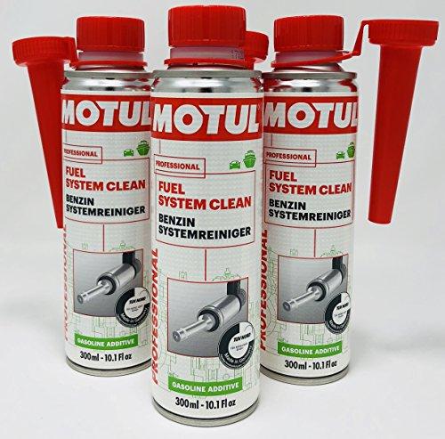 Motul Zusatzstoff Kraftstoff Benzin Professional Fuel System Clean 300ml (verbesserte Formula 2018), Angebot 3Verpackungen