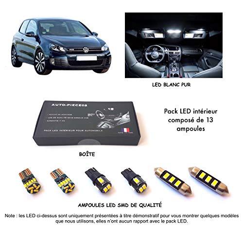 Pack FULL LED intérieur pour Golf 6 (Kit ampoules blanc pur)