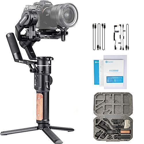 FeiyuTech AK2000S - Stabilizzatore cardanico a 3 assi, stabilizzatore portatile AK2000 S, compatibile con fotocamere Nikon Sony Canon Mirrorless e DSLR, pannello touch intelligente