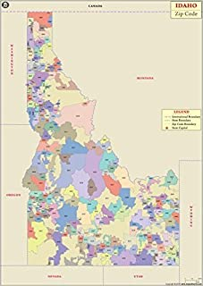 Idaho Zip Code Map (36
