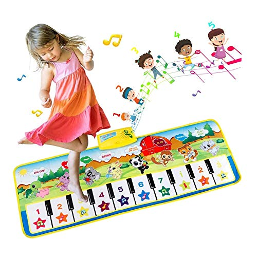 EXTSUD Piano Mat, Musical Keyboard Playmat Electronic Music Play Blanket Dance Mat Early Educational Toys for Boys Girls Birthday Xmas Gifts for Kids