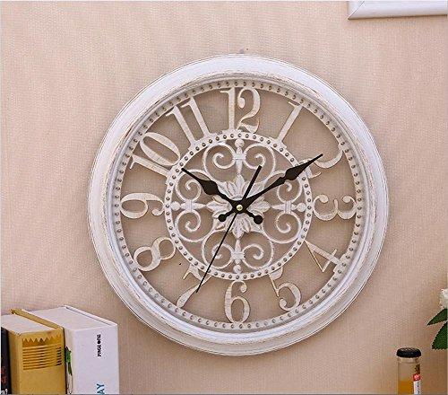 H&M Orologio da parete moderno moderno orologio da parete orologio orologio tranquillo orologio da parete orologio moda semplice salotto cucina ristorante orologio camera da letto , Bianca