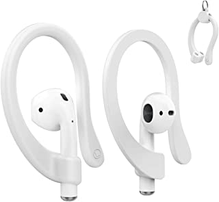 AhaStyle AirPods Ear Hooks Anti-Slip Sport Hooks Silicone [Magnetic Assembling] [Easy to Carry] Compatible with Apple AirPods 2 & 1(White)